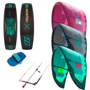 North Evo Kite and X-Ride Kiteboard Kitesurfing Package 2018