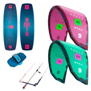North Mono Kite and Gonzales Kiteboard Kitesurfing Package 2018